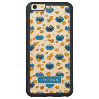 Cookie Monster | C is for Cookie Pattern Carved® Maple iPhone 6 Plus Bumper Case