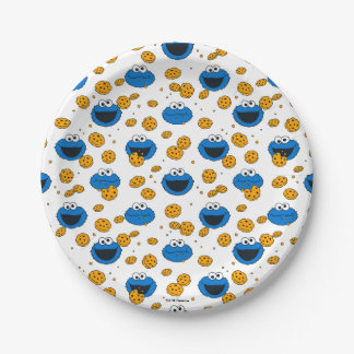 Cookie Monster | C is for Cookie Pattern Paper Plate