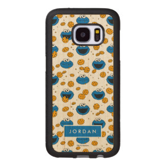 Cookie Monster | C is for Cookie Pattern Wood Samsung Galaxy S7 Case