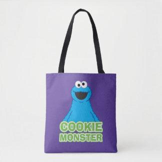 Cookie Monster Character Art Tote Bag