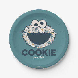 Cookie Monster | Cookie Since 1969 7 Inch Paper Plate