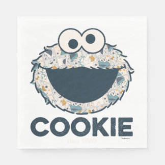 Cookie Monster | Cookie Since 1969 Disposable Napkin