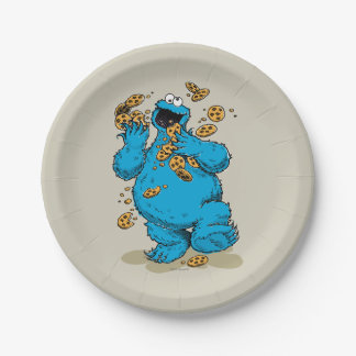 Cookie Monster Crazy Cookies Paper Plate