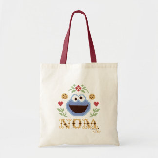 Cookie Monster Cross-Stitch Budget Tote Bag