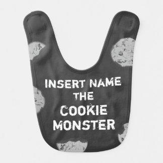 Cookie Monster Customizable Chalkboard Bib