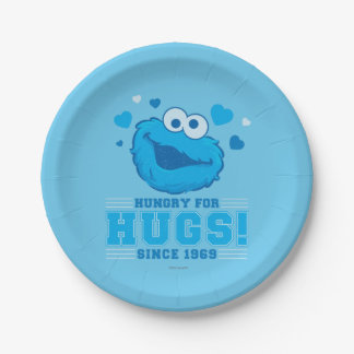 Cookie Monster Distressed 7 Inch Paper Plate