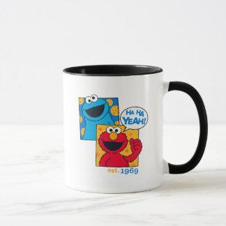 Cookie Monster & Elmo   Ha Ha Yeah Mug
