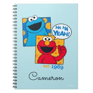 Cookie Monster & Elmo | Ha Ha Yeah Spiral Notebook