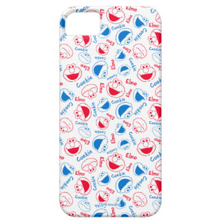 Cookie Monster & Elmo | Red & Blue Pattern iPhone 5 Cover