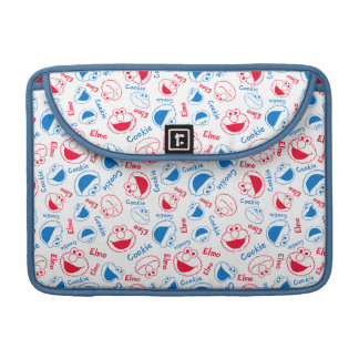 Cookie Monster & Elmo | Red & Blue Pattern Sleeve For MacBook Pro