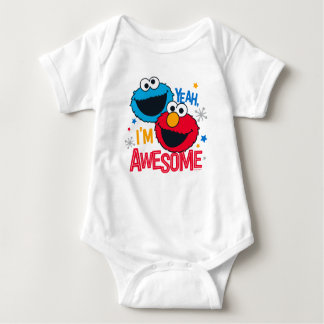 Cookie Monster & Elmo | Yeah, I'm Awesome Baby Bodysuit