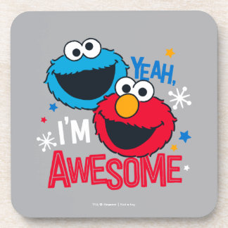 Cookie Monster & Elmo | Yeah, I'm Awesome Coaster