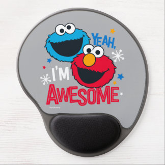 Cookie Monster & Elmo | Yeah, I'm Awesome Gel Mouse Pad