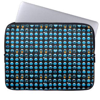 Cookie Monster Emoji Pattern Laptop Sleeve