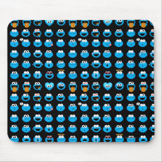 Cookie Monster Emoji Pattern Mouse Pad