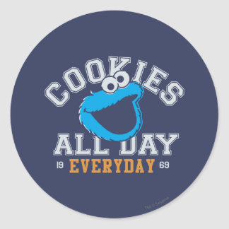 Cookie Monster Everyday Classic Round Sticker