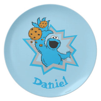 Cookie Monster Extreme | Add Your Name Party Plate