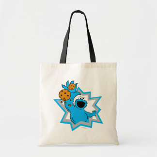 Cookie Monster Extreme Budget Tote Bag