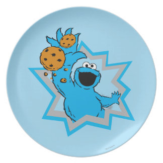 Cookie Monster Extreme Dinner Plates