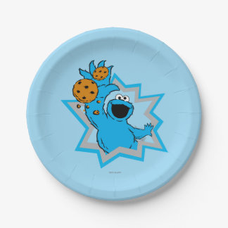 Cookie Monster Extreme Paper Plate