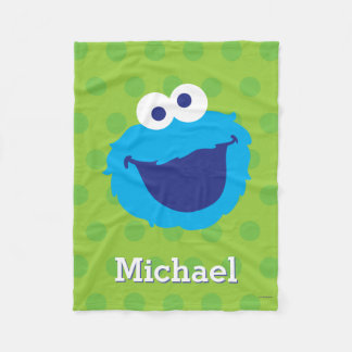 Cookie Monster Face | Add Your Name Fleece Blanket