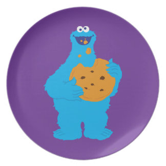 Cookie Monster Graphic Dinner Plate