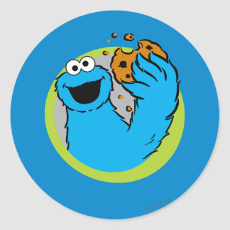Cookie Monster Image Classic Round Sticker