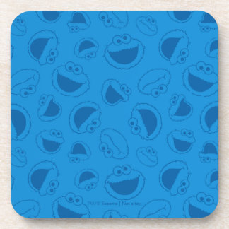 Cookie Monster | Me Awesome Blue Pattern Coaster