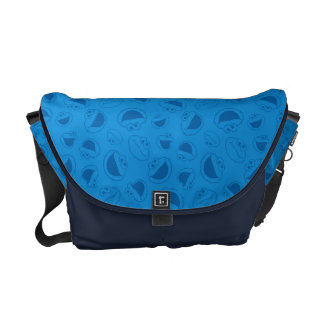 Cookie Monster | Me Awesome Blue Pattern Courier Bags
