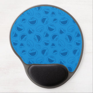 Cookie Monster | Me Awesome Blue Pattern Gel Mouse Pad