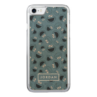 Cookie Monster | Me Hungry Pattern Carved iPhone 8/7 Case