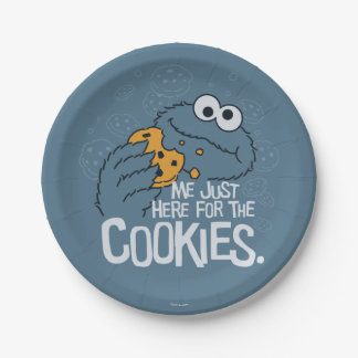 Cookie Monster | Me Just Here for the Cookies Paper Plate