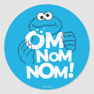 Cookie Monster | Om Nom Nom! Classic Round Sticker