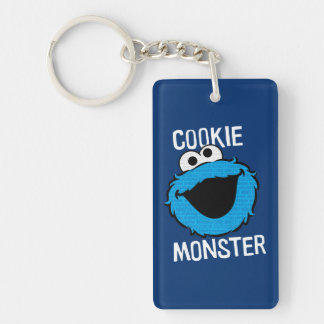 Cookie Monster Pattern Face Key Ring