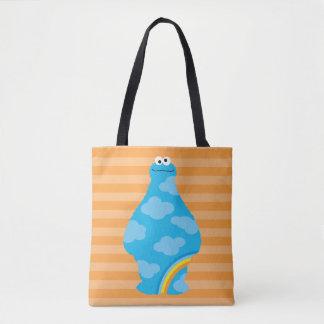 Cookie Monster Rainbows Tote Bag