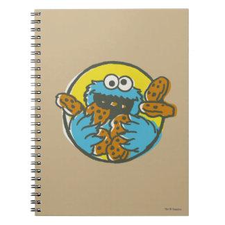 Cookie Monster Retro Spiral Notebook