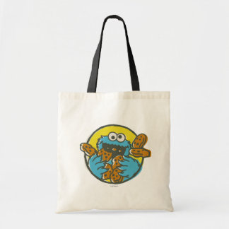 Cookie Monster Retro Budget Tote Bag