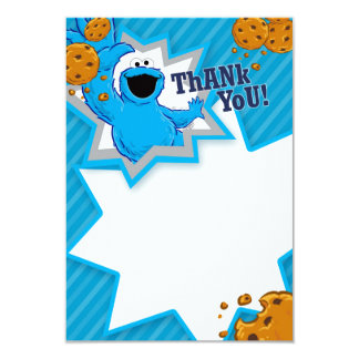 Cookie Monster Thank You Card