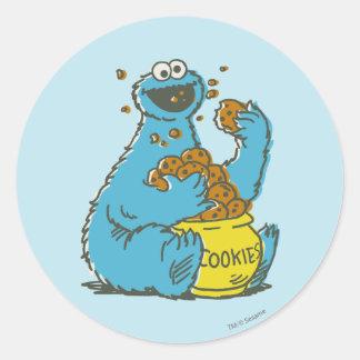 Cookie Monster Vintage Classic Round Sticker
