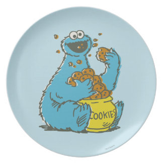 Cookie Monster Vintage Plate