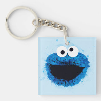 Cookie Monster | Watercolor Trend Double-Sided Square Acrylic Key Ring