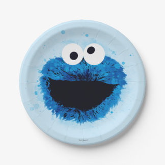 Cookie Monster | Watercolor Trend Paper Plate