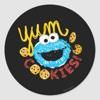 Cookie Monster Yum Classic Round Sticker