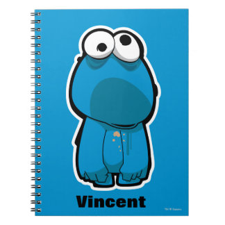 Cookie Monster Zombie   Add Your Name Notebooks