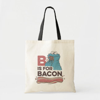 Cookie MonsterB is for Bacon Budget Tote Bag