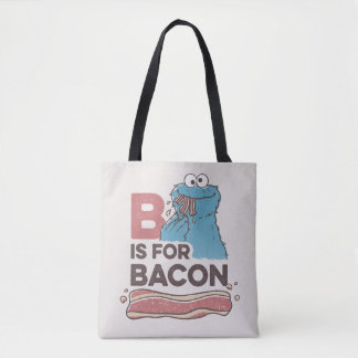 Cookie MonsterB is for Bacon Tote Bag