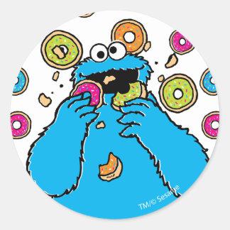 Cookie MonsterDonut Destroyer Classic Round Sticker