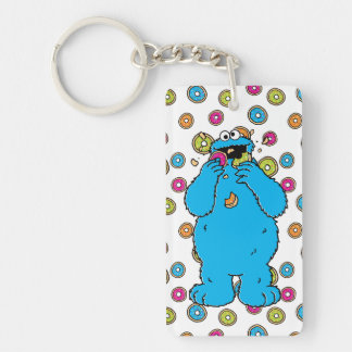 Cookie MonsterDonut Destroyer Double-Sided Rectangular Acrylic Key Ring