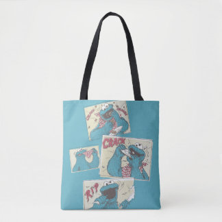 Cookie MonsterVintage Comic Panels Tote Bag