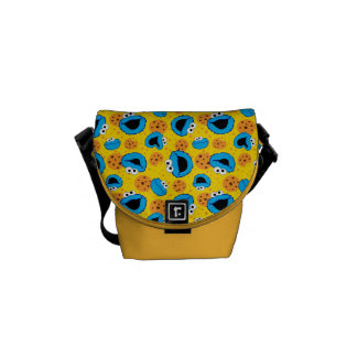 Cookie Monter and Cookies Pattern Messenger Bag